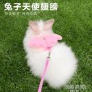 兔子牽引繩子溜兔繩牽引帶鍊子遛兔繩牽兔繩可愛兔兔用品垂耳兔 【韓語空間】
