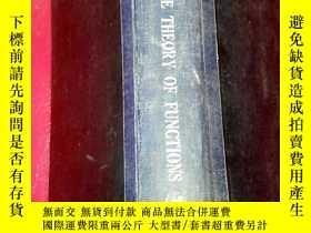 二手書博民逛書店THE罕見THEORY OF FUNCTIONSY20128 T