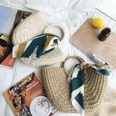 包包編織手提包女編織包女草包手提包草編包度假旅行沙灘包藤編包MOON衣櫥