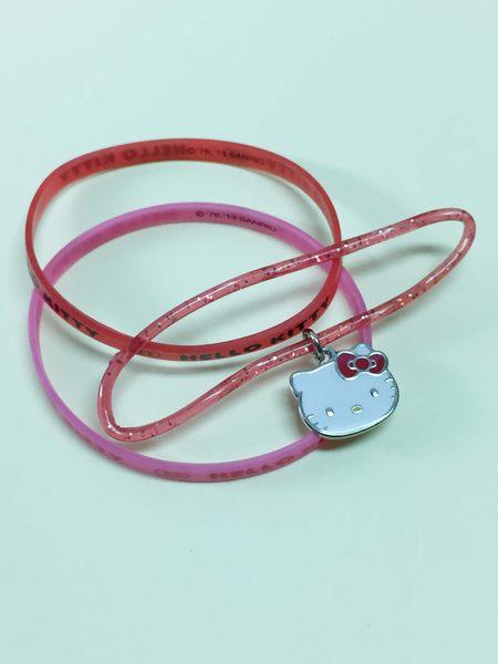 【震撼精品百貨】Hello Kitty 凱蒂貓~手環/手鍊-橡膠材質-粉紅大頭造型