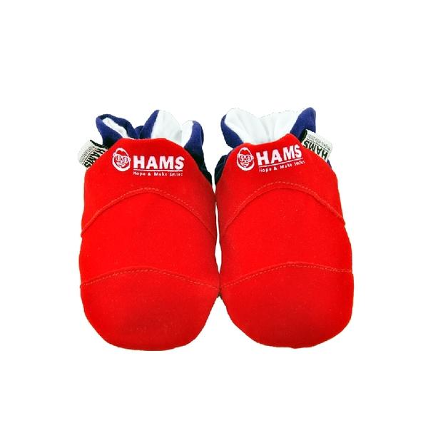 嬰兒學步鞋-HAMS純棉軟底麂皮防滑寶寶鞋-台灣