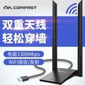 免驅動USB無線網卡台式機電腦主機電競游戲WIFI信號接收器增強網路 街頭布衣