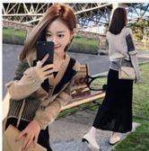 現貨不退換-XL針織毛衣外套半身裙套裝28723/秋冬新款女裝長袖氣質時髦秋季小香風毛衣裙子兩件