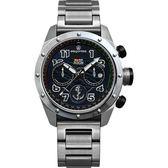 限量 elegantsis 中華民國海軍艦隊計時套錶-黑x銀/47mm ELJX47QS-ROCN BK