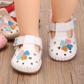 防滑軟底0-6-12個月夏季可愛寶寶學步鞋1歲女潮搭嬰幼兒單涼鞋