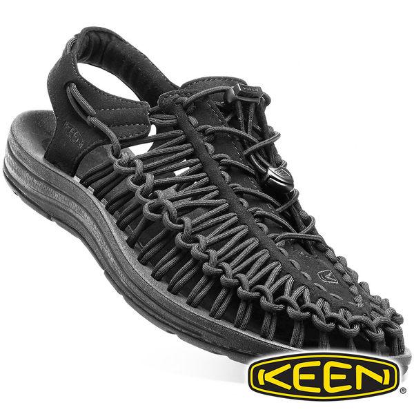 【KEEN】UNEEK 男拉繩涼鞋『黑』1014097 健行 涼鞋 自行車 溯溪 健走 海邊 沙灘鞋 戶外 露營