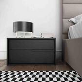 北歐床頭櫃簡約現代時尚床頭櫃黑白儲物櫃 創意日式床邊櫃床頭櫃 igo CY潮流站