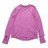 NIKE 上衣 ELEMENT CREW 雪花 粉紫 慢跑 排汗 長袖 女(布魯克林) CU3278-564