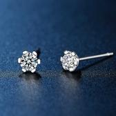 耳環 925純銀鑲鑽-閃耀魅力生日情人節禮物女飾品73hk11【時尚巴黎】