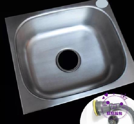 水槽  廚房304簡易單槽不銹鋼水槽帶墻上三角支架洗菜盆掛墻式水盆支架