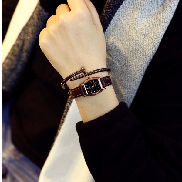 店長推薦 rate雷特手錶女品牌女款皮帶潮小表盤細帶韓國復古迷你石英表