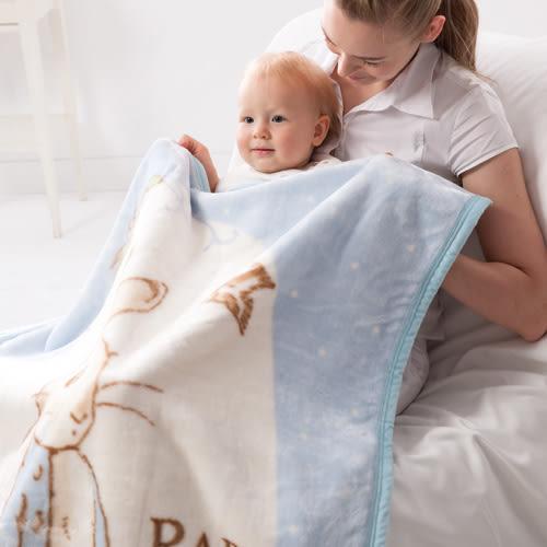 *美馨兒* 奇哥 -圓點比得兔幼兒毛毯禮盒(二色可挑)+贈奇哥紙袋 1680元