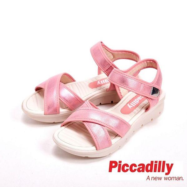 Piccadilly 高纖厚底交叉带凉拖鞋 女鞋-粉(另有白)