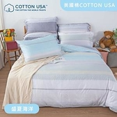 Beauty Style 美國棉四件式兩用被床包組 盛夏海洋(特大)特大7尺