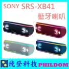 現貨 台灣公司貨 SONY SRS-XB41 SRSXB41藍牙喇叭 防水防塵 另有XB21 XB31可參考