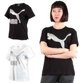 PUMA 女流行系列經典LOGO短袖T恤 (短T 短袖上衣 慢跑 免運 ≡排汗專家≡