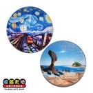【收藏天地】台灣紀念品*水晶玻璃球冰箱貼-十分野柳造型2款 ∕ 小物 磁鐵 送禮 文創