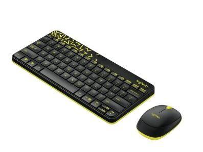 Logitech羅技 無線滑鼠鍵盤組(MK240)-黑