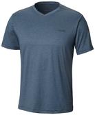 【Columbia】男UPF55快排短袖上衣-藍