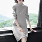 (現貨+預購 RN-girls)-精品半高領純色針織長袖洋裝