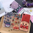 【SZ33】JJ iPhone7/8 手機殼 蠶絲紋麵包超人細菌人  iPhone7/8 plus iphone 6 plus手機殼 iphone 6s