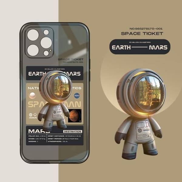 手機殼 桔子貓iPhone12promax手機殼12個性nasa宇航員蘋果11promax全包鏡頭