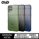 QinD Samsung Galaxy A22 5G 戰術護盾保護套 氣囊 減震抗摔 全包邊 保護殼 保護套