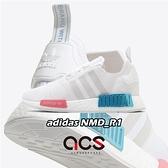 adidas 休閒鞋 NMD_R1 W 白 藍 粉紅 BOOST 女鞋 愛迪達 三葉草 【ACS】 FX7074