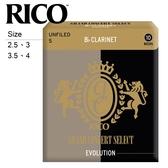 【小叮噹的店】GS-C 美國 RICO Evolution 豎笛竹片 / 黑管竹片 各尺寸、10片裝