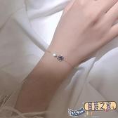 手鏈 925純銀宇宙星空深藍星球手鏈女小眾設計簡約個性學生閨蜜飾品【風鈴之家】