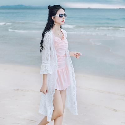海邊度假雪紡防曬衫女中長款開衫2018超仙外搭沙灘防曬衣外套TBF-10B快時尚
