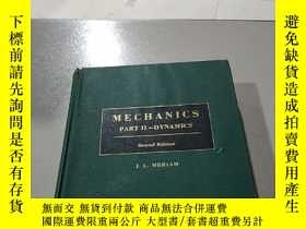 二手書博民逛書店MECHANICS罕見PART II-DYNAMICS:力學部分