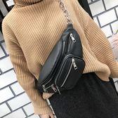 腰包 ins超火包包女東大門新款時尚韓國斜跨復古chic學生腰包胸包 綠光森林