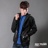 BIG TRAIN 連帽針織外套-男-黑▼外套特惠