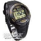 W-734-9A 卡西歐 CASIO 慢跑電子錶 黑金色 橡膠 48mm 男錶 W-734-9AVDF
