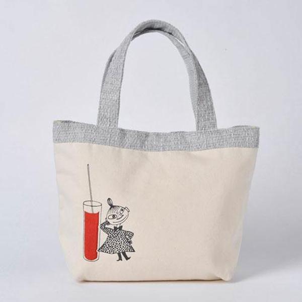 Marimo 刺繡帆布手提袋 便當袋 MOOMIN嚕嚕米 小不點亞美_FT78970