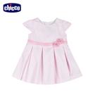 chicco-花語-條紋立體花洋裝