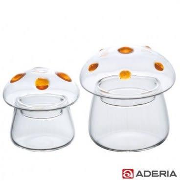 ADERIA 日本進口圓點蘑菇容器2入組