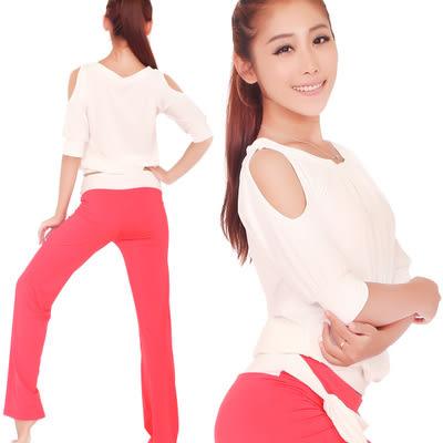 女士瑜伽服套裝春夏季寬鬆顯瘦運動健身瑜珈舞蹈練功愈加服秋 - lxy001015