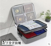 密碼款 家庭文件證件收納包證書收納戶口本袋箱家用盒包重要放資料的盒子 小城驛站
