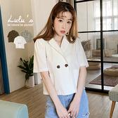 LULUS【A03200052】E口袋短版西裝外套3色