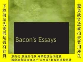 二手書博民逛書店Bacon s罕見EssaysY256260 Bacon, Francis Bibliobazaar 出版2
