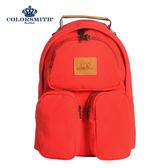 【COLORSMITH】RB.立體袋休閒後背包-紅色.RB1151-RE