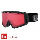 法國 Bolle Z5 OTG 雙層鏡片設計 防霧雪鏡 亮麗黑/朱紅金 #21500