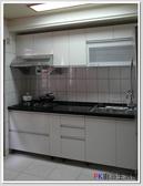 ❤PK 廚浴 館 店面❤高雄歐化系統櫥具290 公分上下櫥一字型流理台水晶門板