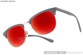 EMPORIO ARMANI 太陽眼鏡 EA4072 55026Q (灰-銀) 率性眉框水銀鏡面款 # 金橘眼鏡