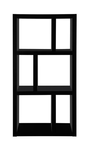 【尚優家居】艾莉雅六格櫃/展示櫃/書櫃/收納櫃/隔間櫃(黑色)