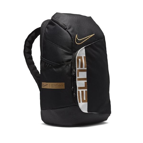 NIKE 後背包 ELITE PRO 黑金 氣墊背帶 籃球 運動 肩背包 (布魯克林) BA6164-013