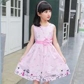 童裝兒童裙子女童連體裙夏裝新款公主裙純棉棉布碎花裙背心裙