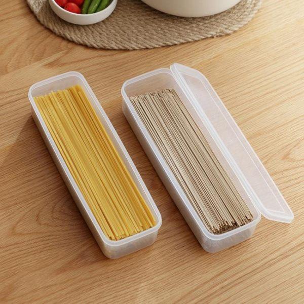 廚房帶蓋面條保鮮盒塑料收納盒餐具筷子盒冰箱收納盒63812 智聯igo